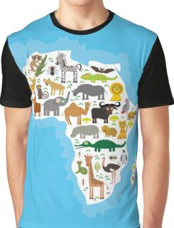 Animal Africa Continent Graphic T-Shirt