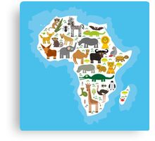 Animal Africa Continent Canvas Print