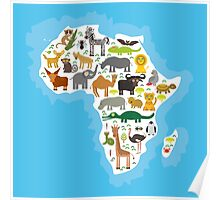 Animal Africa Continent Poster