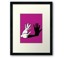Bunny Hands Framed Print
