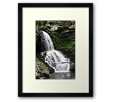 Misty Waterfall ~ Springtime Fresh Framed Print