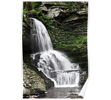 Misty Waterfall ~ Springtime Fresh Poster