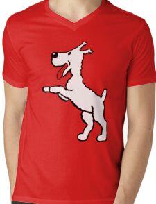 Snowy Mens V-Neck T-Shirt