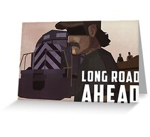 Long Road Ahead Greeting Card