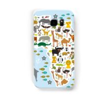 African animal map and ocean Samsung Galaxy Case/Skin