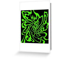 Green and black decor Greeting Card