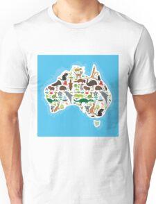 Australian Animal Map  Unisex T-Shirt