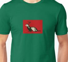 Holiday Antler Ferret Unisex T-Shirt