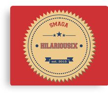 Red Hilarious Canvas Print