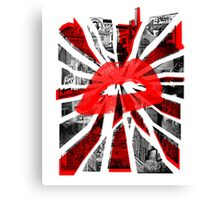 Kisses from the city. Canvas Print