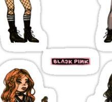 black pink sticker set Sticker