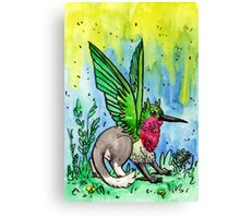 ruby throated griffin Canvas Print