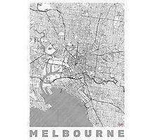 Melbourne Map Line Photographic Print