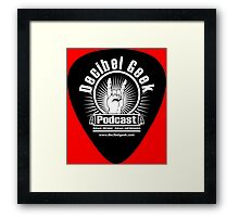 Decibel Geek Guitar Pick! Framed Print
