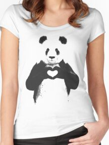 love panda Women's Fitted Scoop T-Shirt