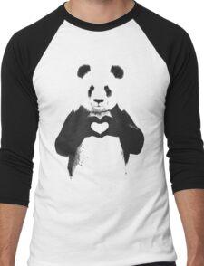 love panda Men's Baseball ¾ T-Shirt