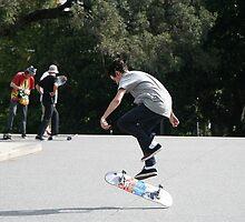 Skate boarders by Maggie Hegarty