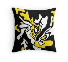 Yellow, black and white decor Throw Pillow