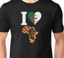 I Love Africa Map Algeria Flag T-Shirt Unisex T-Shirt