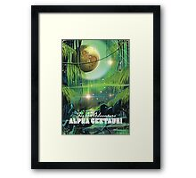 Alpha Centauri retro swamp sci-fi poster Framed Print