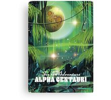 Alpha Centauri retro swamp sci-fi poster Canvas Print