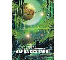 Alpha Centauri retro swamp sci-fi poster Photographic Print