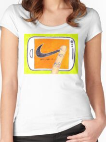 Just Post It Women's Fitted Scoop T-Shirt