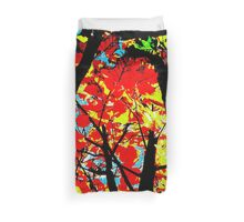 Flame Trees Duvet Cover