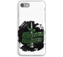 Mischief Managed - Slytherin Style iPhone Case/Skin