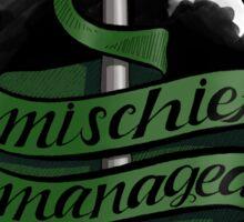 Mischief Managed - Slytherin Style Sticker