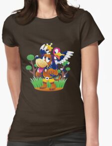 ~ Banjo-Kazooie & Duck Hunt ~ Womens Fitted T-Shirt