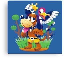 ~ Banjo-Kazooie & Duck Hunt ~ Canvas Print