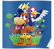 ~ Banjo-Kazooie & Duck Hunt ~ Poster