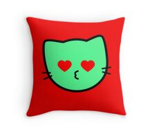 Kawaii Kitty Cats 2048 - tile 1024 Throw Pillow
