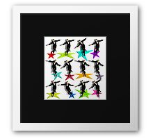 Jumping Fred Flash 2 Framed Print