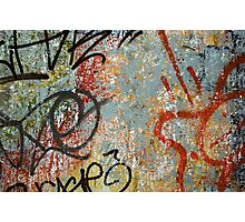 Colourful graffiti wall Photographic Print