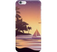 Tropical Island at Sunset 3 iPhone Case/Skin