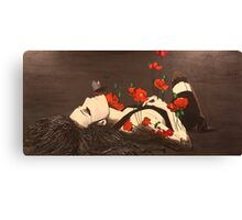 Femme in Black Canvas Print