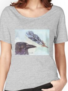 A Crow's Wing Feather Women's Relaxed Fit T-Shirt