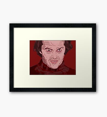 The Shining- Jack Nicholson Framed Print