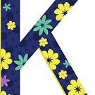 Flower Letter K by Winterrr