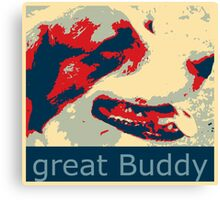 Mats the great buddy of the Wold, dog, pets, Canvas Print