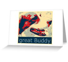 Mats the great buddy of the Wold, dog, pets, Greeting Card