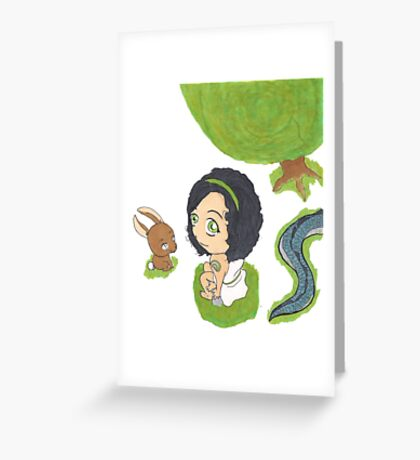 Chibi Arya Greeting Card