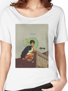 Grey Women's Relaxed Fit T-Shirt