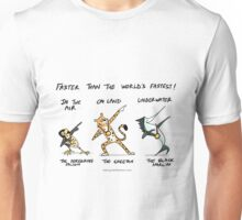Animals Faster than Usain Bolt Unisex T-Shirt