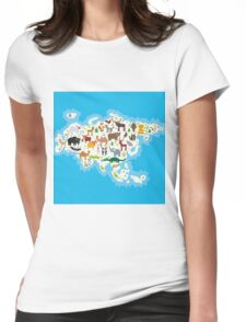 Eurasia Animal Map Womens Fitted T-Shirt
