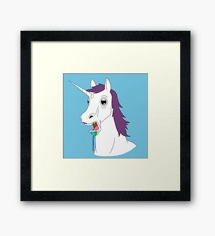 Dumb Unicorn  Framed Print