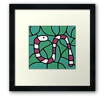 Purple snake Framed Print