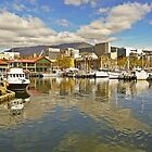 Fishermans Wharf and Hobart cityscape by TonyCrehan